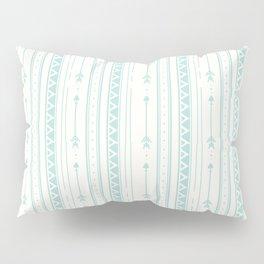Blush green bohemian arrows zigzag geometrical Pillow Sham