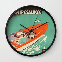 Vintage poster - Lake Winnipesaukee Wall Clock