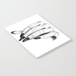Gentle woman hand Notebook