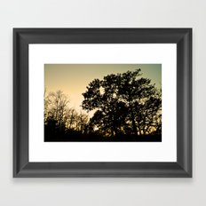 The Silhouetted Sunset Framed Art Print