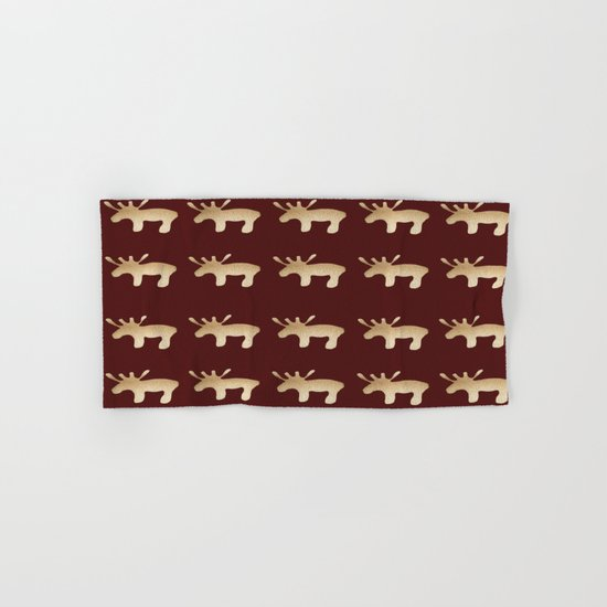 Reindeer queues Hand & Bath Towel