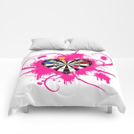 Dartboard Romance Comforters