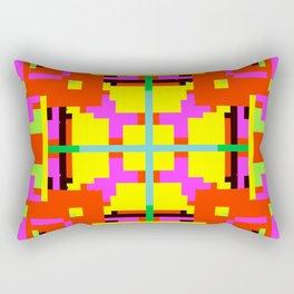 Key Lime Floral Cross Square Rectangular Pillow