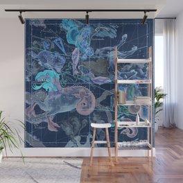 Star Atlas Vintage Constellation Map Blue Ignace Gaston Pardies Wall Mural
