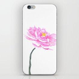 pink peony iPhone Skin