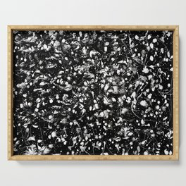Black and white Galaxy Serving Tray
