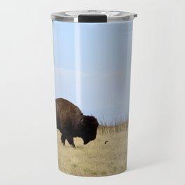 Buffalo on Antelope Island Travel Mug