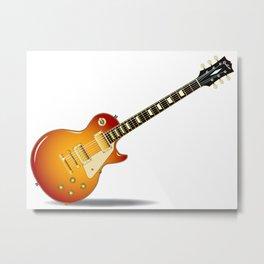 Cherry Sunburst Guitar Metal Print