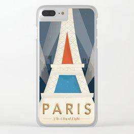 Vintage poster - Paris Clear iPhone Case