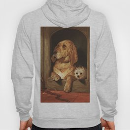 bloodhound and a terrier 1800's oil painting. Hoody