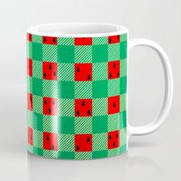 watermelon buffalo plaid Coffee Mug