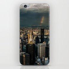 Manhattan - great sky iPhone Skin