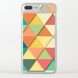 Colorful Triangle Pattern Clear iPhone Case