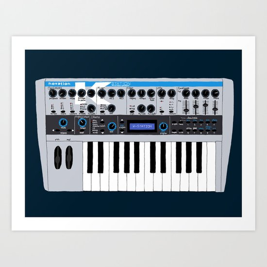 Novation K-Station Art Print