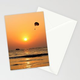 Long-angle Silhouette Photography of Paraglider Stationery Cards