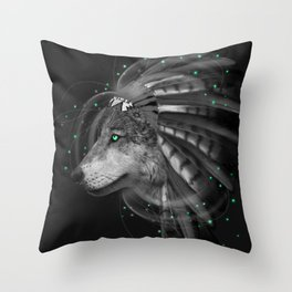 Don't Define the World (Chief of Dreams: Wolf) Tribe Series Throw Pillow