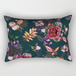 Autumn dark roses and florals Rectangular Pillow