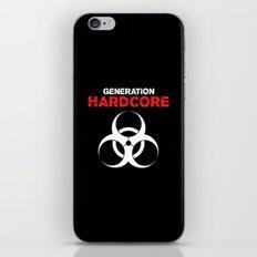 Generation Hardcore Music Quote iPhone & iPod Skin