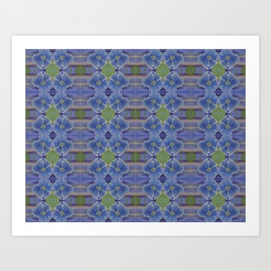 Nasturtium Flower Pattern Art Print