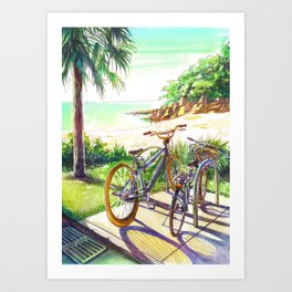 Shelly beach Art Print