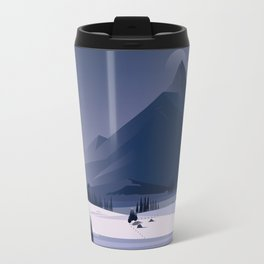 Alone In Nature - Winter Night Travel Mug