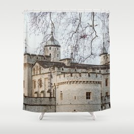 Tower of London in Winter Shower Curtain