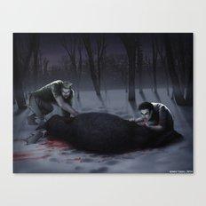 Ungezähmt Canvas Print