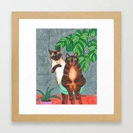 Cat Sisters Framed Art Print