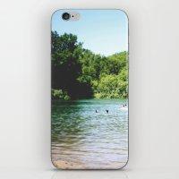 swim iPhone & iPod Skins featuring Swim by Christine Hall