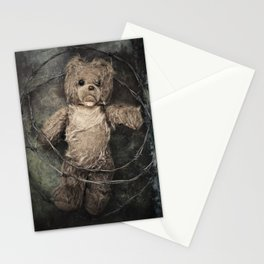 trapped teddy bear Stationery Cards