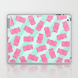 Pink Gummi Bears on Mint Background Pattern Laptop & iPad Skin