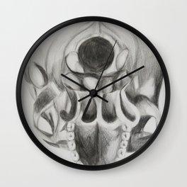 inferior side of skull Wall Clock