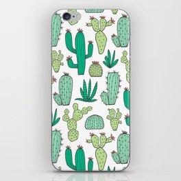 Cactus on White iPhone Skin
