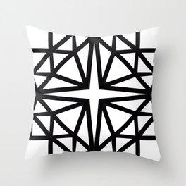 Estrella de copito Throw Pillow