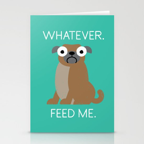 The Pugly Truth Stationery Cards
