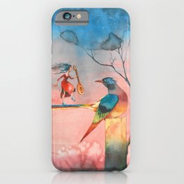 In dreams Fairy tale Colorful Bird iPhone Case