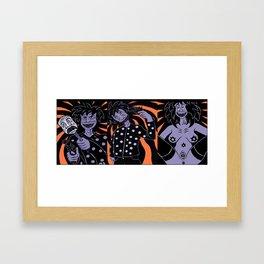 Decadent/Killer/Clowns Framed Art Print