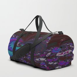 Hoarse Hallow Fractal - Abstract Art Duffle Bag