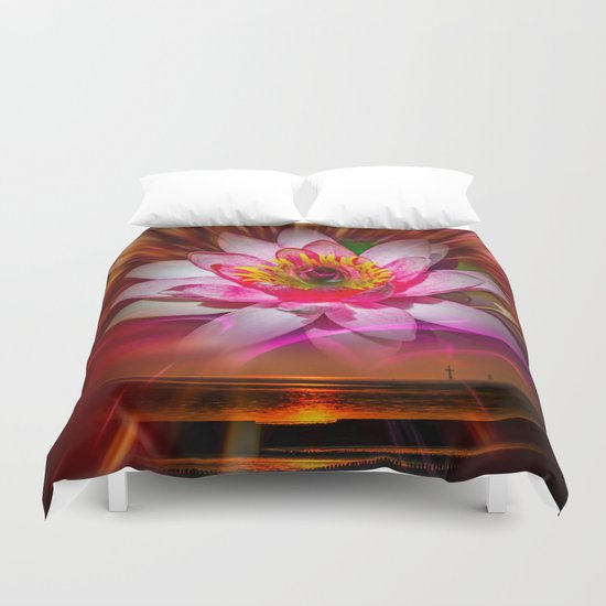 Wellness Water Lily Rose  6 Duvet Cover