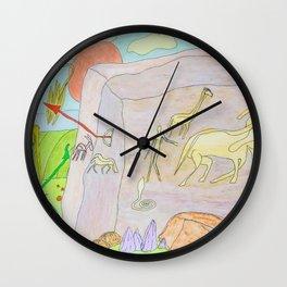Rock paintings Wall Clock
