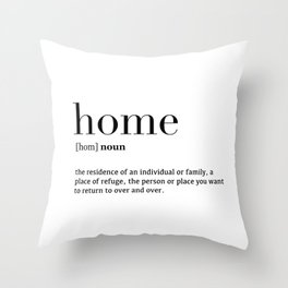 Home definition Throw Pillow