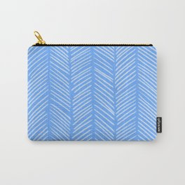 Sky Blue Herringbone Carry-All Pouch