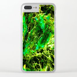 Green Slime Clear iPhone Case