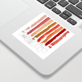 Lipstick Stripes - Red Orange Gold Sticker