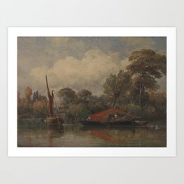 Opposite my House at Barnes by Edward William Cooke, 1862. Art Print