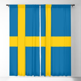 Flag of Sweden - Authentic (High Quality Image) Blackout Curtain