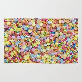 Rainbow Candy Sprinkles Art Rug