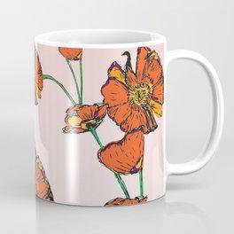 Peacock poppy pink Coffee Mug