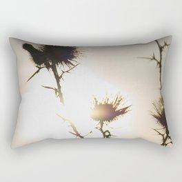 Milk thistle silhouette Rectangular Pillow