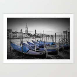 VENICE Grand Canal and St Mark's Campanile Art Print
